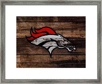 The Denver Broncos 3a Framed Print by Brian Reaves