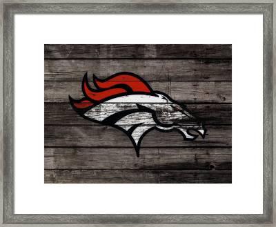 The Denver Broncos 3c Framed Print by Brian Reaves