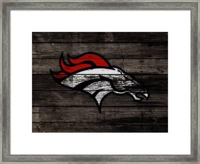The Denver Broncos 3e Framed Print by Brian Reaves