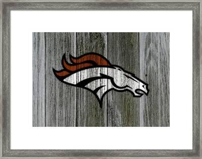 The Denver Broncos C2 Framed Print by Brian Reaves
