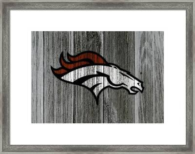 The Denver Broncos C3 Framed Print by Brian Reaves