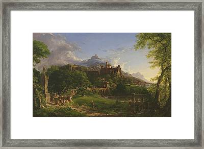 The Departure Framed Print by Thomas Cole