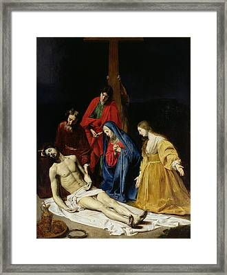 The Descent From The Cross Framed Print by Nicolas Tournier