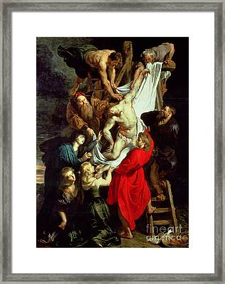 The Descent From The Cross Framed Print by Peter Paul Rubens