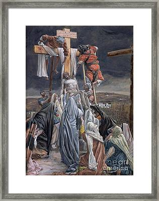 The Descent From The Cross Framed Print by Tissot