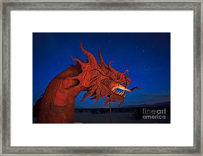 The Desert Serpent Under A Starry Night Framed Print by Sam Antonio Photography