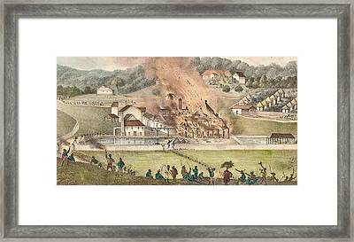 The Destruction Of The Roehampton Estate Framed Print by Adolphe Duperly