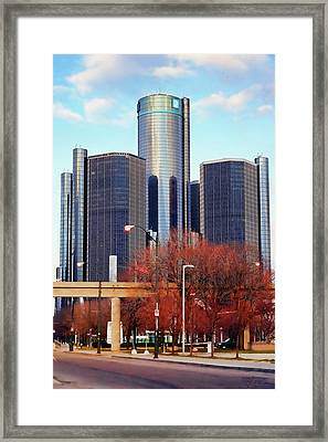 The Detroit Renaissance Center Framed Print by Gordon Dean II