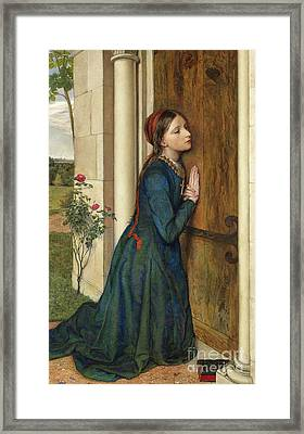 The Devout Childhood Of Saint Elizabeth Of Hungary, 1852 Framed Print by Charles Alston Collins