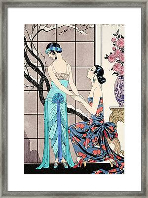 The Difficult Admission Framed Print by Georges Barbier