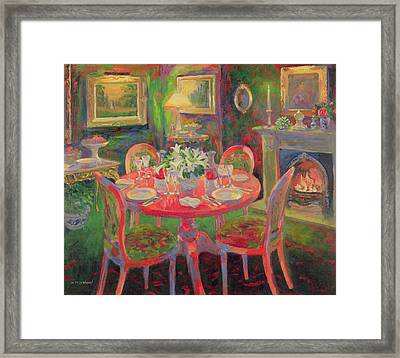 The Dining Room Framed Print by William Ireland