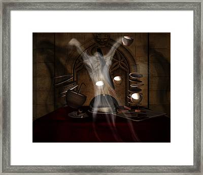 The Dinner Guest Horror Framed Print by Sharon and Renee Lozen