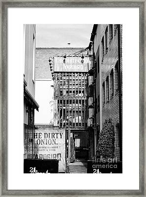 The Dirty Onion Pub And Yardbird Restaurant In Cathedral Quarter Belfast Housed In Belfasts Oldest B Framed Print by Joe Fox
