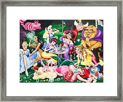 The Disney Hangover Framed Print by Charlotte Oedekoven