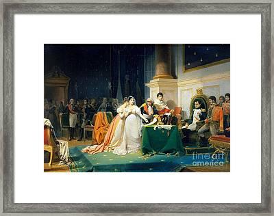 The Divorce Of Empress Josephine Framed Print by Freedeic Henri