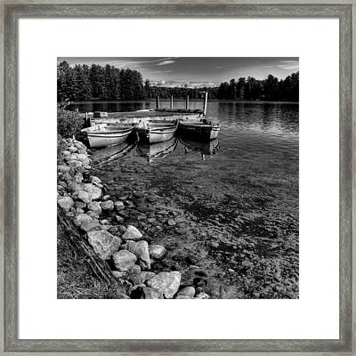 The Dock At Camp Russell Framed Print by David Patterson