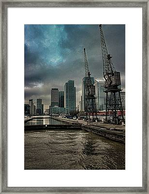 The Docks Framed Print by Martin Newman