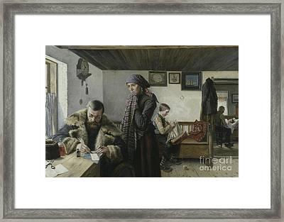 The Doctor Calls Framed Print by Charles John William Louis Aspelin