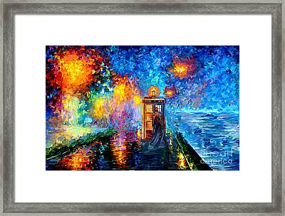 The Doctor Lost In Strange Town Framed Print by Three Second