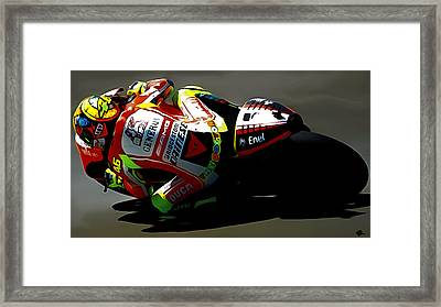 The Doctor Valentino Rossi Framed Print by Brian Reaves