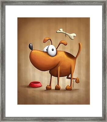 The Dog Framed Print by Tooshtoosh