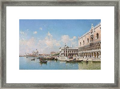 The Doge's Palace And Santa Maria Della Salute Framed Print by Federico del Campo