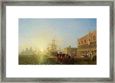 The Doge's Palace, Venice, 1835 Framed Print by William James Muller