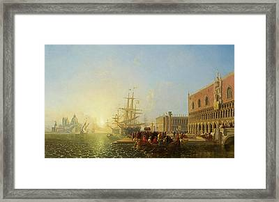 The Doge's Palace, Venice Framed Print by William James Muller