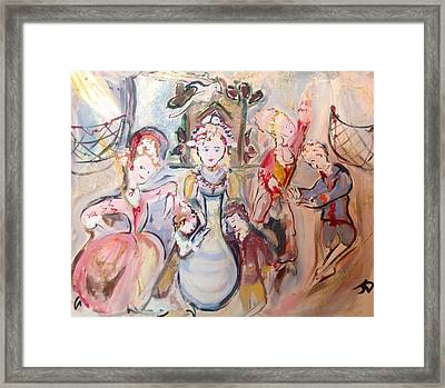 The Dolls Decorate The Toy Factory  Framed Print by Judith Desrosiers