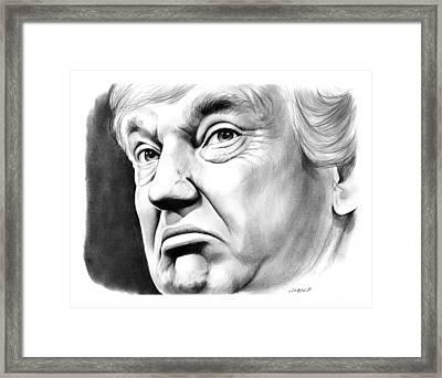 The Donald Framed Print by Greg Joens