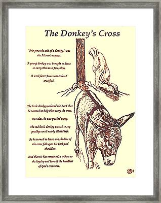The Donkey's Cross Framed Print by Mary Singer
