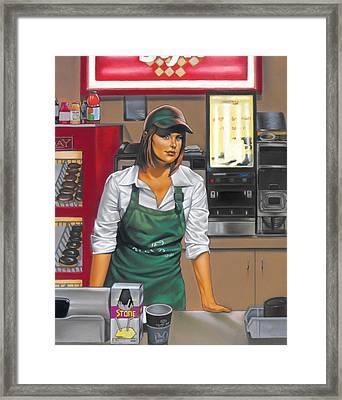 The Donut Shop Framed Print by Glenn Bernabe