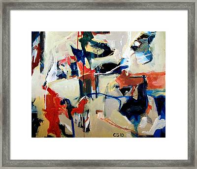 The Door On The Left Framed Print by Charlie Spear