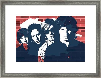 The Doors Graffiti Tribute Framed Print by Dan Sproul