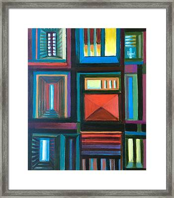 The Doors Of Hope  Framed Print by Laila Awad Jamaleldin