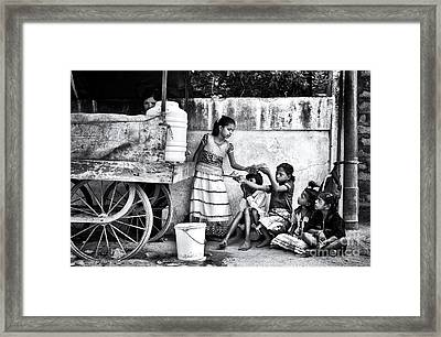 The Dosa Cart Framed Print by Tim Gainey