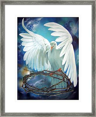 The Dove Framed Print by Larry Cole