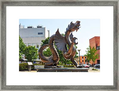 The Dragon - Drexel University Framed Print by Bill Cannon