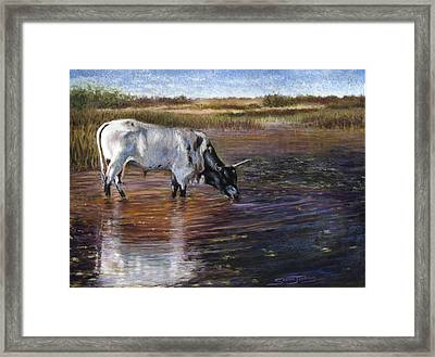 The Drink Framed Print by Susan Jenkins