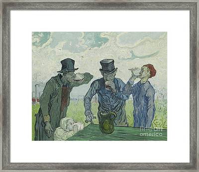 The Drinkers Framed Print by Vincent Van Gogh