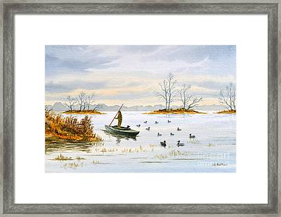 The Duck Blind Isalnd Framed Print by Bill Holkham