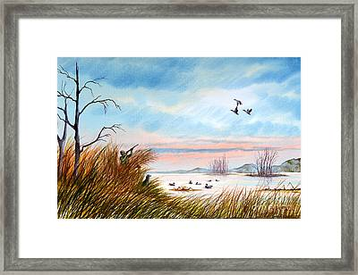 The Duck Hunters Companion Framed Print by Bill Holkham