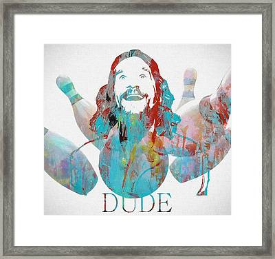 The Dude Bowling Framed Print by Dan Sproul
