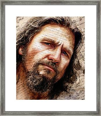 The Dude Framed Print by Fay Helfer