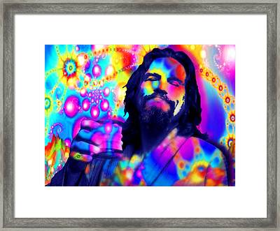 The Dude The Big Lebowski Jeff Bridges Framed Print by Tony Rubino