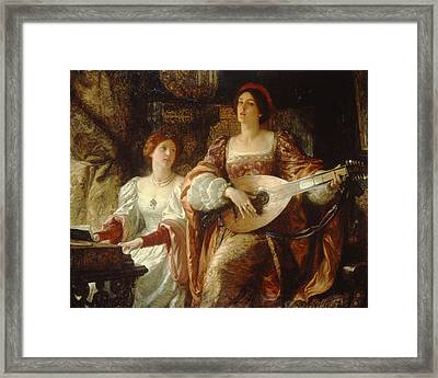 The Duet Framed Print by Sir Frank Dicksee
