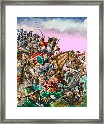The Duke Of Monmouth At The Battle Of Sedgemoor Framed Print by Peter Jackson