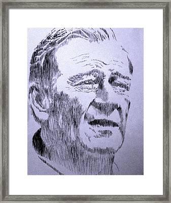 The Duke Framed Print by Robbi  Musser