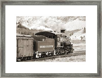 The Durango And Silverton Into The Mountains Framed Print by Mike McGlothlen