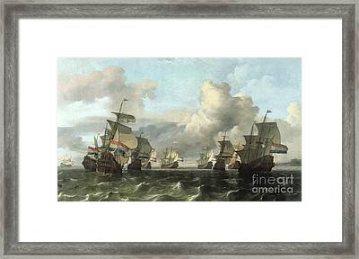 The Dutch Fleet Of The India Company Framed Print by Ludolf Backhuysen